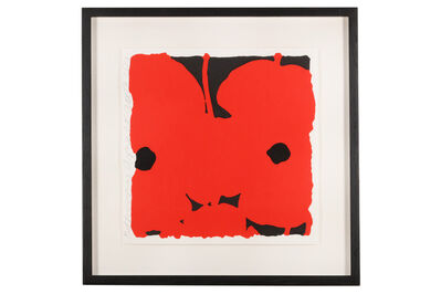 Donald Sultan, 'Red Poppies'