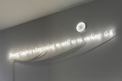 Joseph Kosuth, ''Existential time #8' | Every limit is a beginning as well as an ending. G.E.', 2019