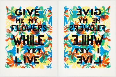 Trenton Doyle Hancock, 'Give Me My Flowers While I Yet Live', 2012