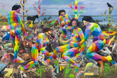 Okuda San Miguel, 'Royal Family of the Plastic Island', 2018