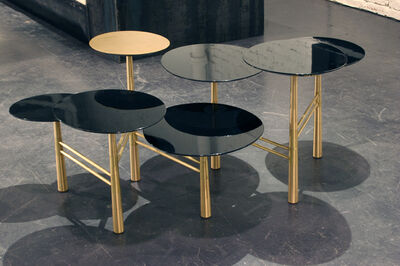 Nada Debs, 'Pebble Table - brass and lacquer'