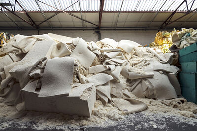 Paul Bulteel, 'Latex residue from rejected products and cutting scraps of latex that was itself produced with recycled latex. The residue will be shredded and used as raw material for the production of new latex.', 2015