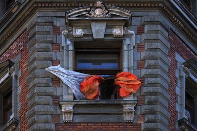 György Gáti, 'Orange Curtain - Körönd', 2015