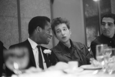Ted Russell, 'Dylan and Baldwin enjoying each other's company at the Emergency Civil Liberties Committee's Bill of Rights Dinner, New York City', 1963
