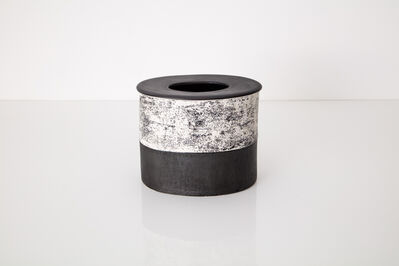Kathy Erteman, 'Black and White Drum Vessel', 2020
