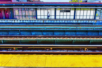 Mitchell Funk, 'Avenue J.  New York City  Subway', 2019