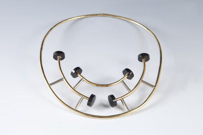 Ettore Sottsass, 'Gold and black onyx necklace', 1984-1986