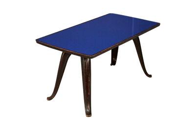 Pietro Chiesa, 'Pietro Chiesa Midcentury Coffee Table Glass Blue, 1950s', 1950-1960