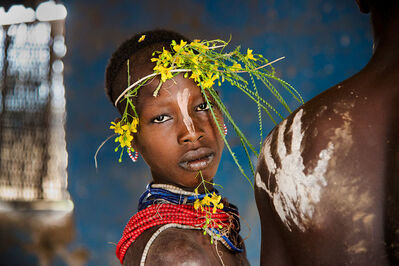 Steve McCurry, 'Child adorned with flowers, Kara Tribe, Dus Village, Omo Valley,Ethiopia', 2012