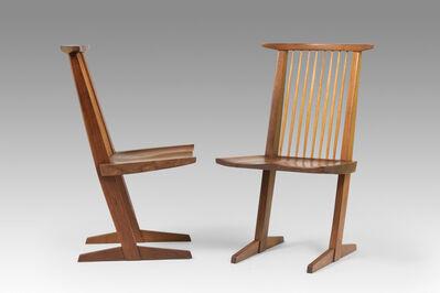 George Nakashima, 'Set of 8 Conoid chairs', 1972