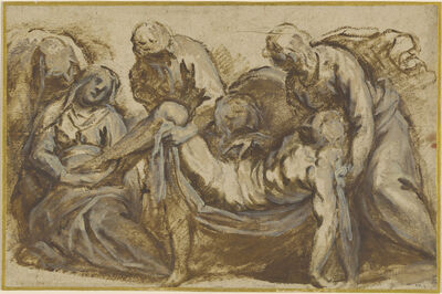 Jacopo Palma il Giovane, 'The Entombment of Christ', ca. 1600