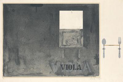 Jasper Johns, 'Viola', 1971-72