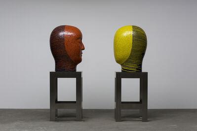 Jun Kaneko, 'Raku Head Pair Covered in Mosaic Tile ', 2016