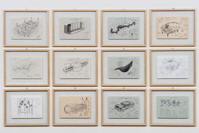 Chen Zhen, '24 Framed Drawings (Detail)', 1990-2000