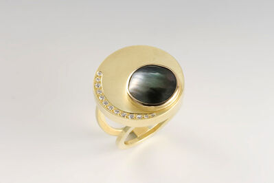 Janis Kerman, 'Gold Disc Ring'