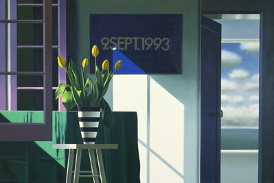 Bruce Cohen, 'Interior with Yellow Tulips and On Kawara', 2020