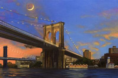 Nick Savides, 'Moonrise over Brooklyn Bridge', 2016