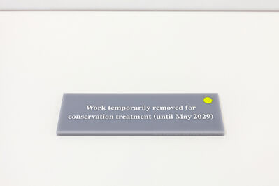 Anna Blessmann and Peter Saville, 'Work temporarily removed for conservation treatment (until May 2029)', 2015