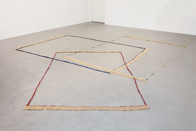 Latifa Echakhch, 'Frames (bleu, bordeaux, beige)', 2009