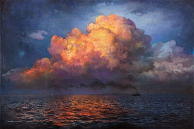 Stev'nn Hall, 'EVENING ON THE SEA No.3', 2020