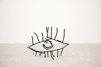 "Petrit Halilaj, '""Abetare (Eye)"", 2017 Steel sculpture 39 × 49 × 7 cm', 2017"