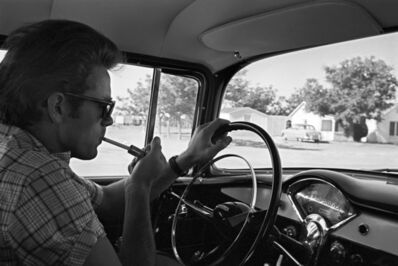 Richard C. Miller, 'James Dean Smoking in a Car During the Shooting of GIANT', 1956