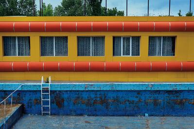 "David Kutz, 'Retro #7366; Water Park, Chimgan, Uzbekistan; May 2014; 41°31'29"" N 70°1'9"" E'"