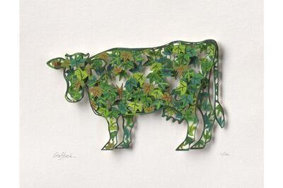 David Gerstein, 'Green Cow - Paper Cut', 2007