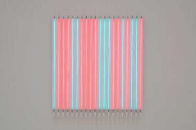 François Morellet, 'Rouge pair, Bleu impair no 12', 2012
