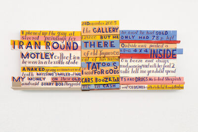 Bob and Roberta Smith, ''Diary Page: 24 December 2005, I Phoned Up The Guy At The Gallery'', 2007