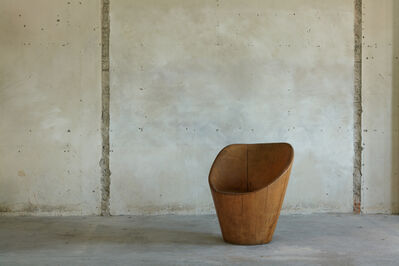 José Zanine Caldas, 'Hand-sculpted chair in solid wood', 1970s
