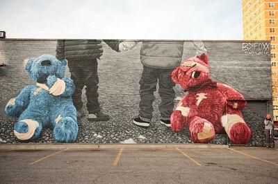 BK FOXX, 'Teddy Bears mural', 2016