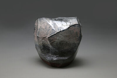 Kaneta Masanao, 'Faceted, scooped-out vessel with Hagi and ash glazes in white, dark brown and pink colorations', 2014