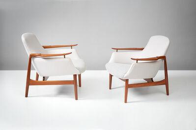 Finn Juhl, 'Model NV-53 Teak Lounge Chairs', 1953