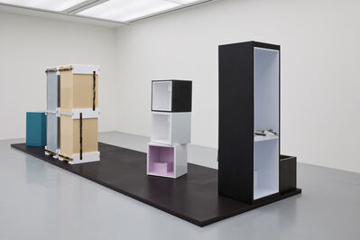 Magali Reus, '(3 part fridge) (x-small fridges stacked)', 2014