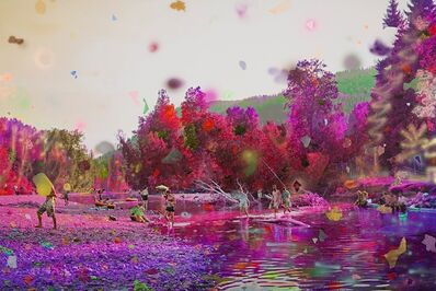Sarah Anne Johnson, 'Purple River II', 2017