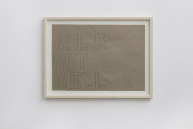 Runo Lagomarsino, 'All is not well', 2012