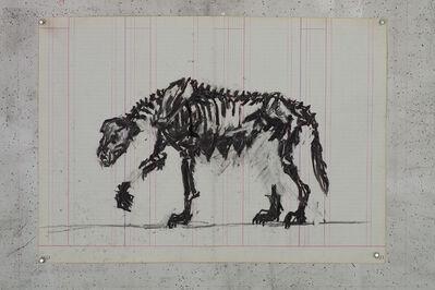 William Kentridge, 'Skeletal She-wolf II', 2015