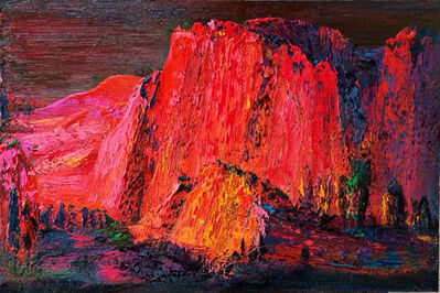 Yin Zhaoyang 尹朝阳, 'Red Cliff in Afterglow', 2015
