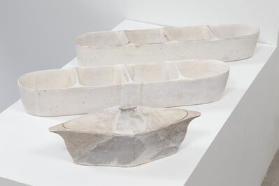 Maggie Finlayson, 'Lidded Diamond Server, Large Partitioned Trough (white stripes), Large Partitioned Trough', 2016