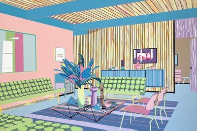 Michael Callas, 'Living Room in Pastel', 2021