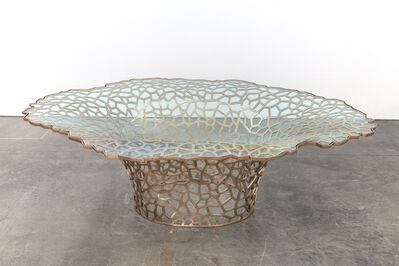 David Wiseman, 'Large Lattice Vortex Dining Table', 2019