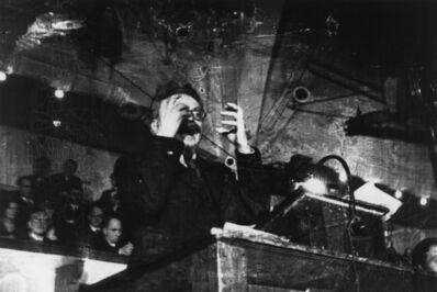 Robert Capa, 'Leon Trotsky lecturing. Copenhagen, Denmark. ', 1932