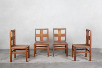 Shiro Kuramata, 'Set of four dining chairs from the Soseikan House (1974-75), Takarazuka, Hyoto, Japan', 1975-1976