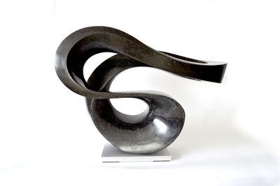 Jeremy Guy, 'Zephyr Minor 5/50 - smooth, black, granite, indoor/outdoor, abstract sculpture', 2019