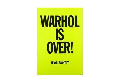 Simon Thompson, 'Warhol is over'