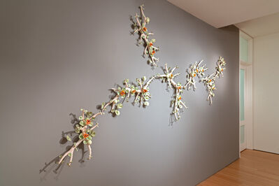 Bradley Sabin, 'Antler Set with Orange Floral Pods (dimensions variable)', 2020