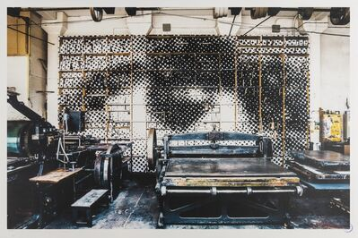 JR, 'IDEM Paris Printing Press', 2013