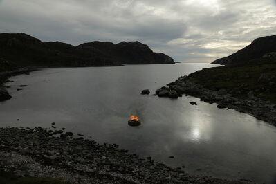 Julie Brook, 'Firestack, Dusk, Summer: Aird Bheag, Outer Hebrides, Scotland', 2018