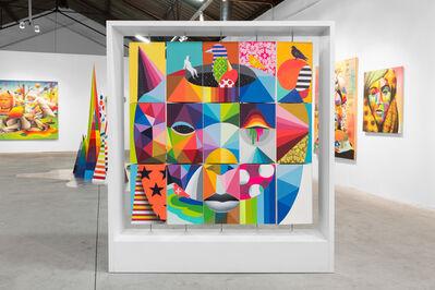 Okuda San Miguel, 'Head Rubik', 2016
